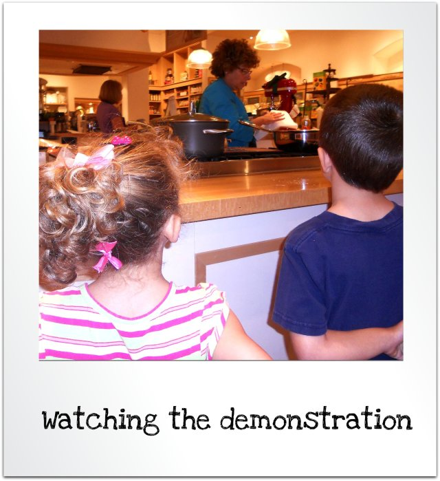 watching cooking demo