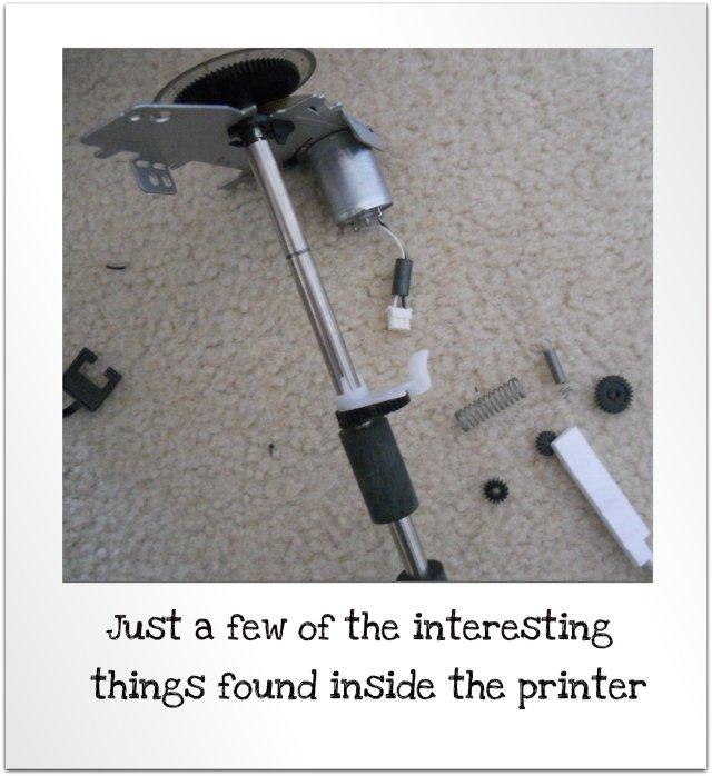 took apart a printer